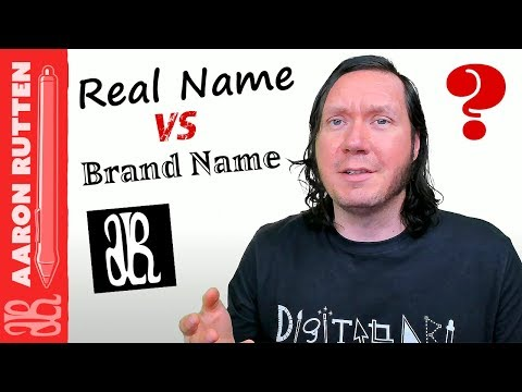 Real Name or Brand Name for Your Art? - Digital Artist Vlog
