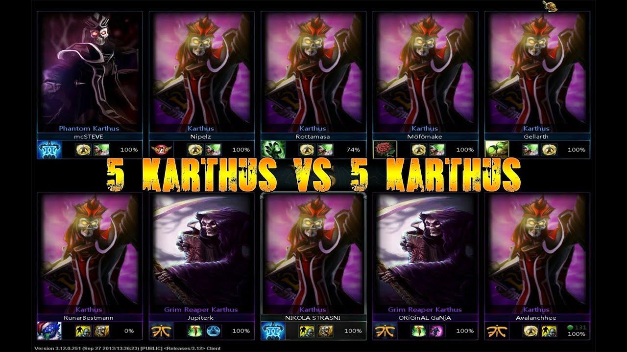Lol Champions Wallpaper Hd 5 Karthus Vs 5 Karthus League Of Legends 5 Same