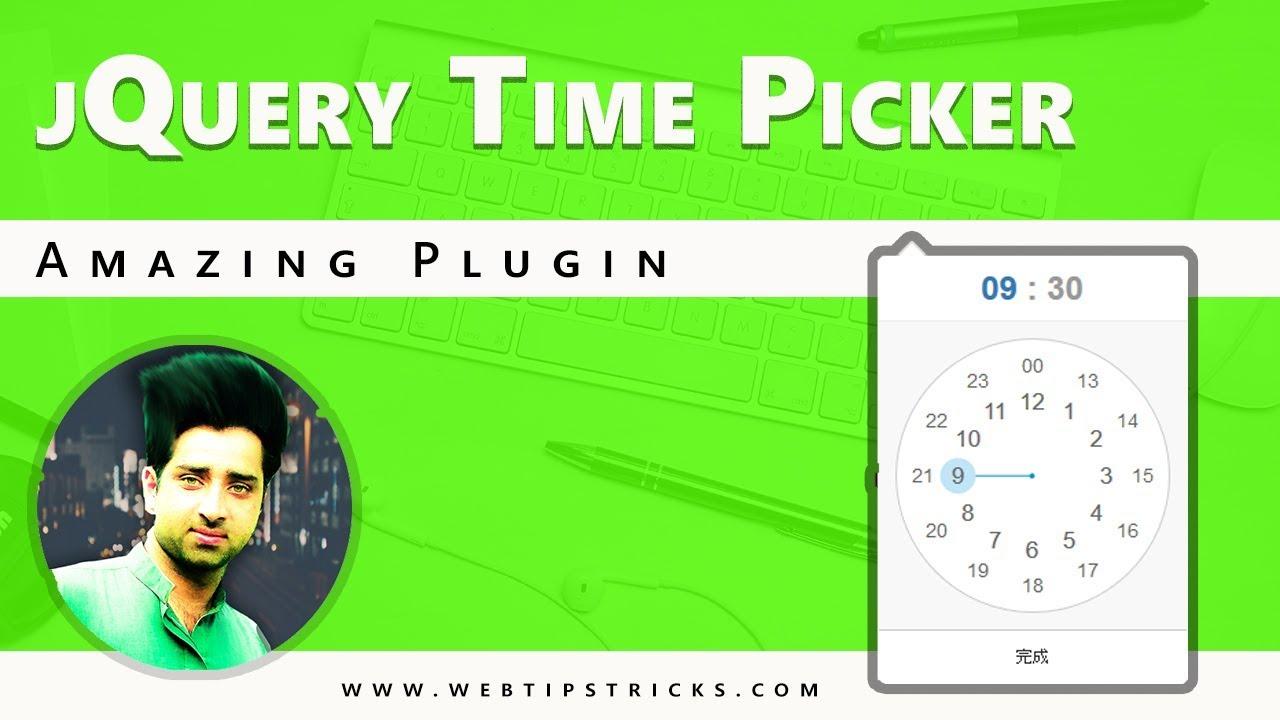 jQuery Time picker Amazing Plugin [Urdu/Hindi]