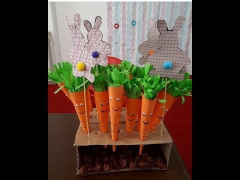 DIY Paper Crafts for Kids - Paper Carrots + Tutorial !