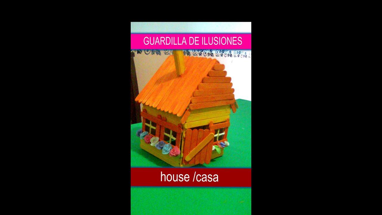 Popsicle sticks house casita palitos de helado 274 - Como hacer un columpio de madera ...