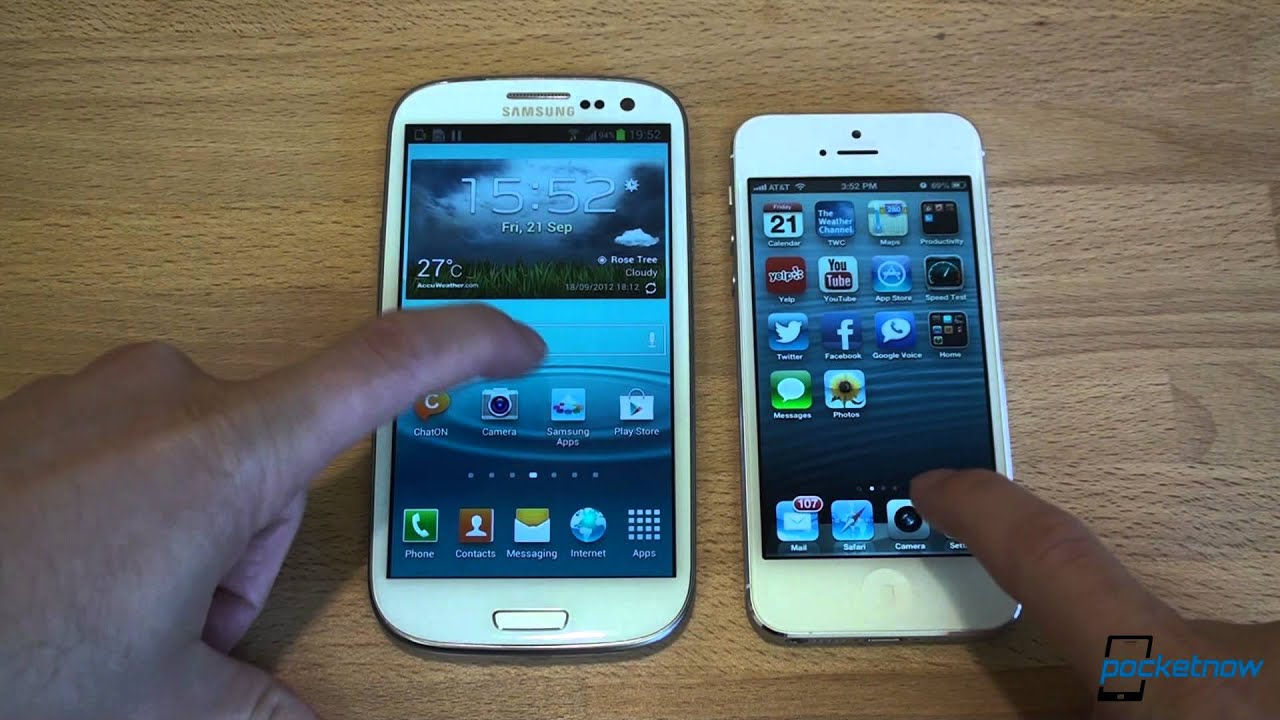 galaxy vs iphone iphone 5 vs galaxy s iii pocketnow 2208