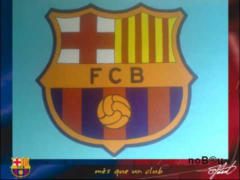 painting fc barcelona club crest on my wall youtube