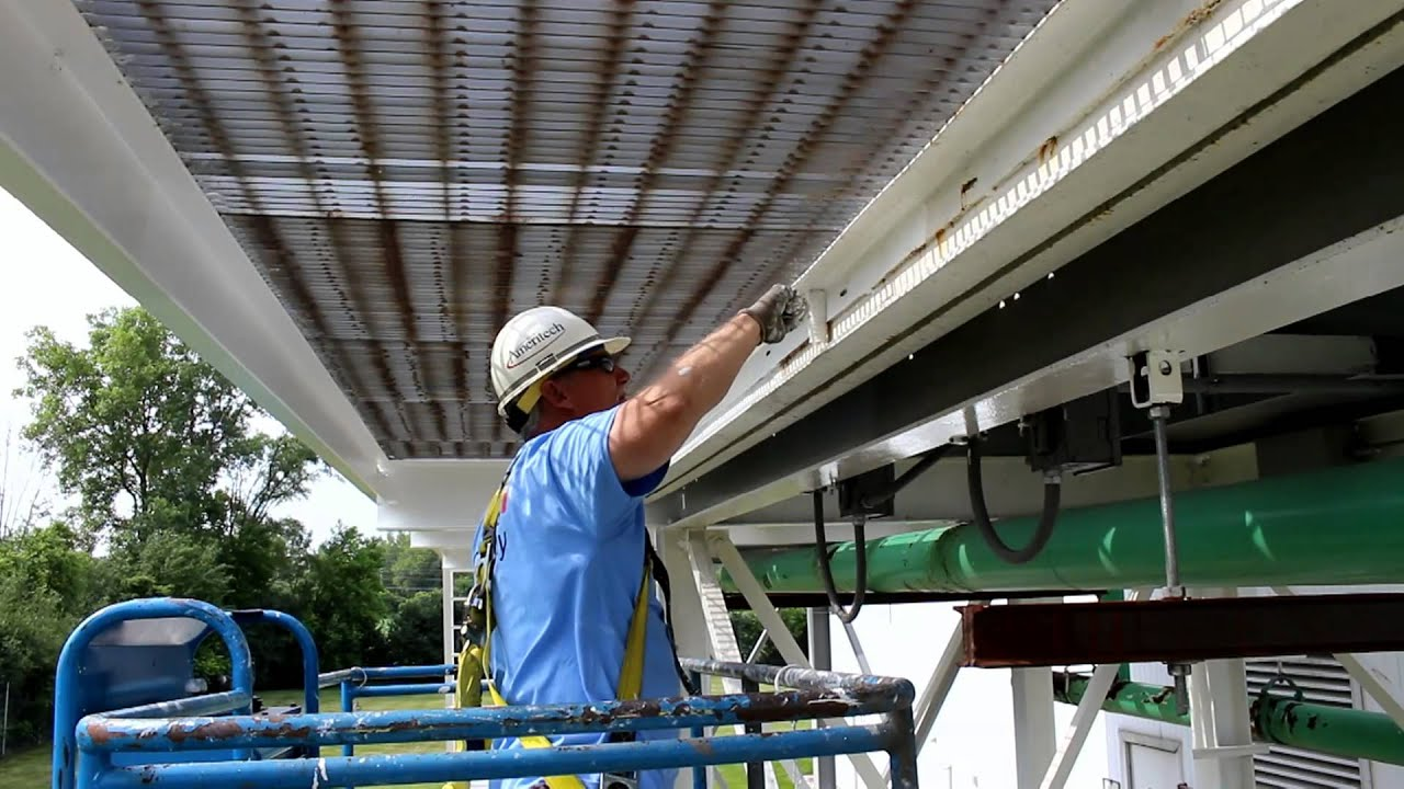 Sandblasting and Painting Structural Steel in Chicago, IL Area - YouTube
