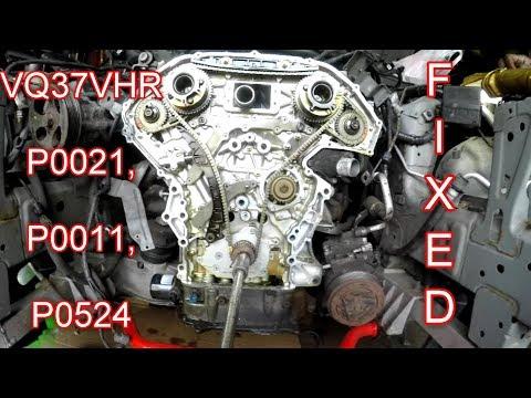 2008 INFINITI G37s Galley Gasket repair P0021 P0011