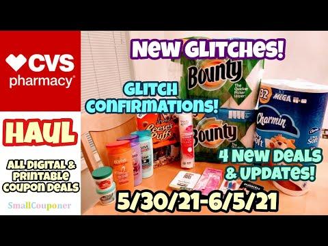 CVS Haul 5/30/21-6/5/21! Glitches! New Deals and Updates! All Digital and Printable Coupon Deals!