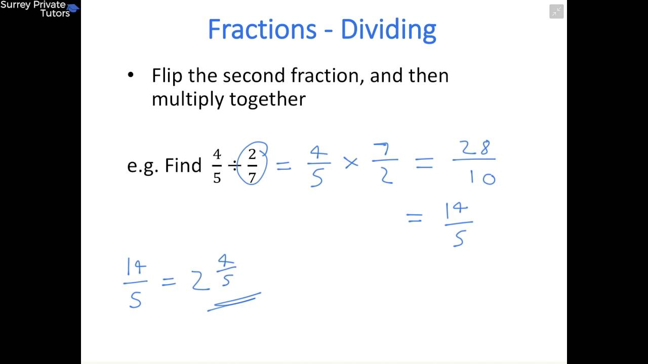 Maths Gcse Lesson 7: Multiplying And Dividing Fractions