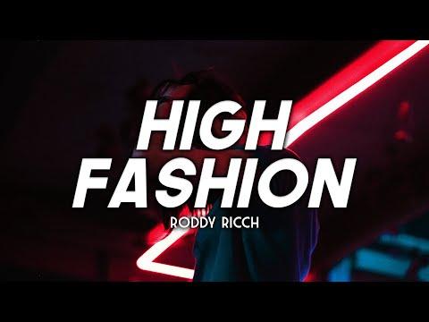 Roddy Ricch - High Fashion (Clean - Lyrics) ft. Mustard
