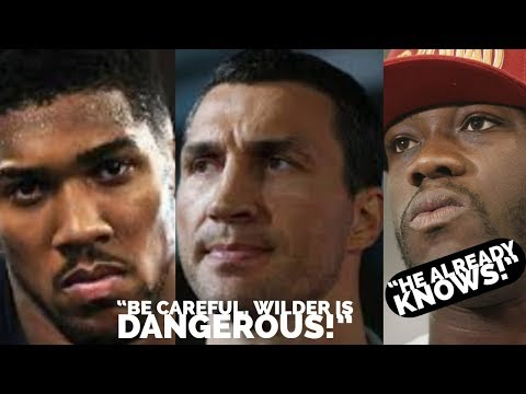 KLITSCHKO SAYS WILDER DANGEROUS FOR ANTHONY JOSHUA |  ADVANTAGES IN SPEED, POWER, AND AGILITY
