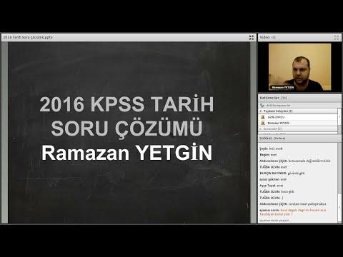 KPSS Tarih Soru Çözümü 1 Genel Tekrar  Ramazan YETGİN