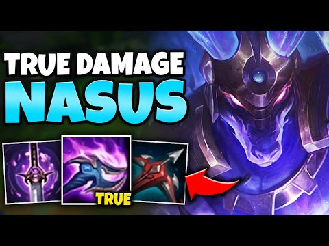 Q HITS FOR TRUE DAMAGE?! 100% ARMOR PEN NASUS IS A LEGIT ASSASSIN! - League Of Legends