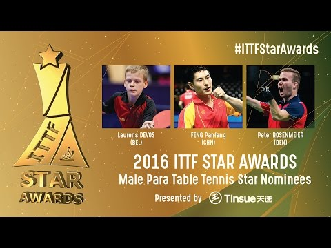 Who will be the 2016 Male Para Table Tennis Star?