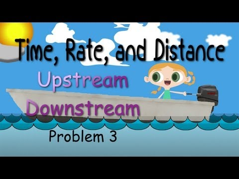 Time, Rate, And Distance (Upstream Downstream)
