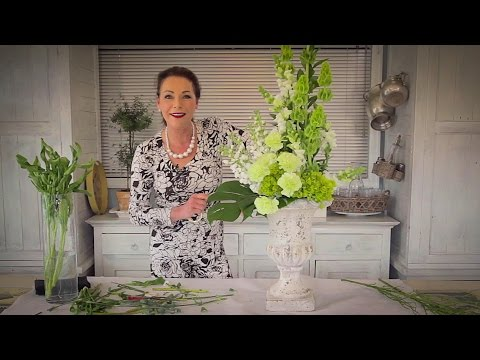 How to Arrange with Tall Stately Flowers Floristry Tutorial thumbnail