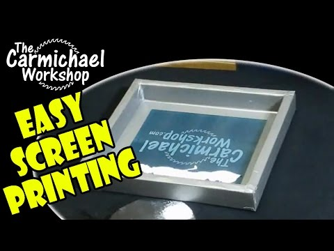 How to Screen Print Your Own T-Shirts - Easy DIY Screen Printing Projects