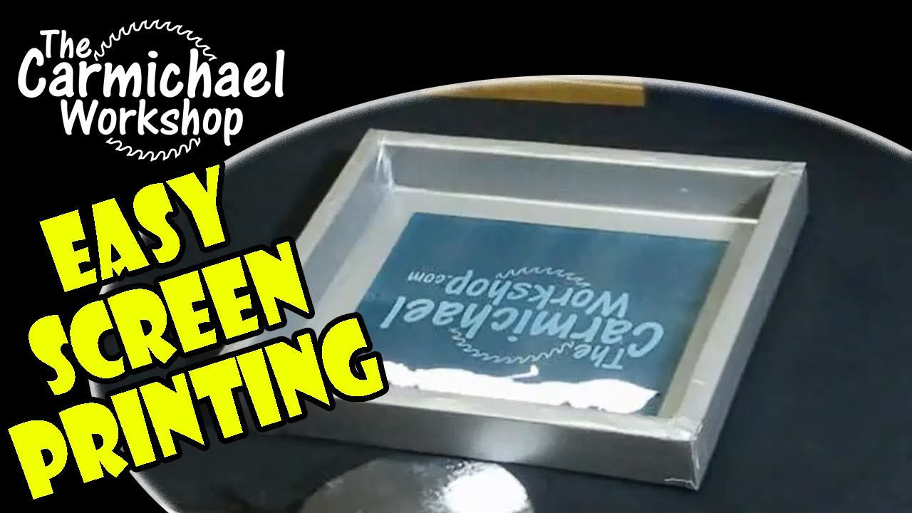 How to screen print your own t shirts easy diy screen Printing your own t shirts