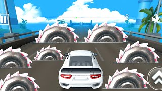 DEADLY RACE #15 Speed Car Bumps Challenge 3d Gameplay Android IOS