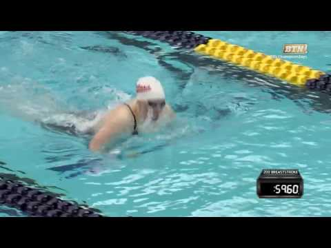 Flashback: Lilly King Breaks Big Ten Record in 200M Breaststroke