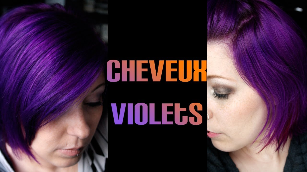 cheveux violet ou lucubrations dune coiffeuse color addict en mal dinspiration youtube - Coloration Violet Cheveux