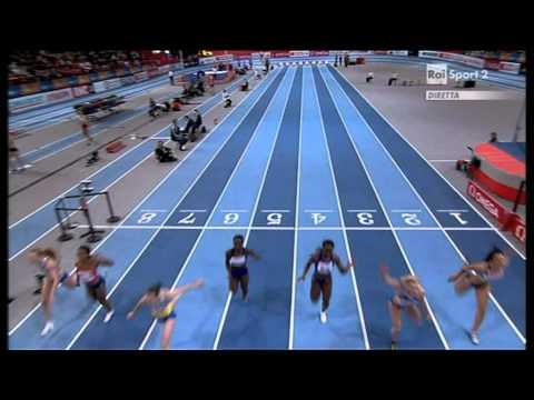 60m women final European Athletics Championships 2011, Paris