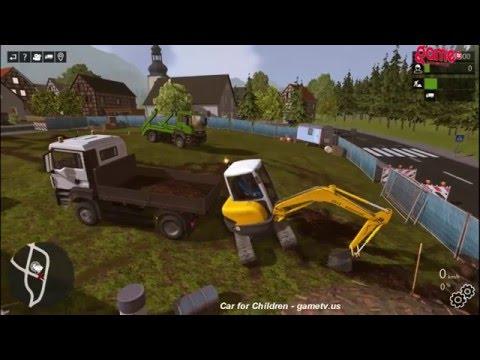 Máy Xúc, Ô tô, Xe Tải - Chú công nhân lái xe - Excavators, Cars , Trucks - Pay worker driving
