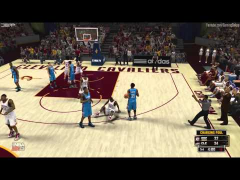 NBA 2K13: Cleveland Cavs Vs. OKC Thunder 7/20/13 Roster [HD] Gameplay