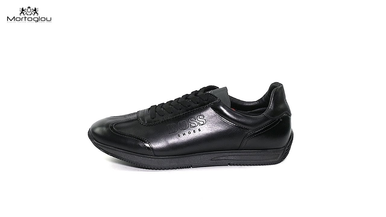 00819a4faed Ανδρικά Παπούτσια Casual Boss Shoes K20100 Black Leather - YouTube