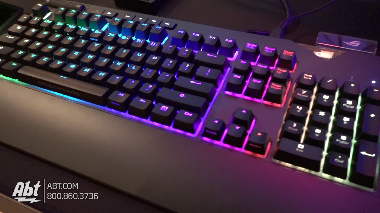 3d7fdbebe65 CES 2018 - Asus ROG Strix Flare Mechanical Keyboard - YouTube