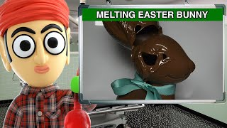 Melting A Chocolate Easter Bunny By Singing - Runforthecube Original