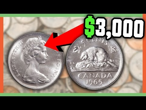 RARE CANADIAN NICKELS WORTH MONEY - VALUABLE NICKEL VARIETIES IN POCKET CHANGE!!