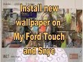 My Ford Touch and SYNC wallpaper creation and installation