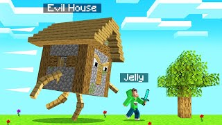 My HOUSE Became EVIL In MINECRAFT! (Run)