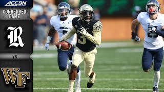 Rice vs. Wake Forest Condensed Game | 2018 ACC Football
