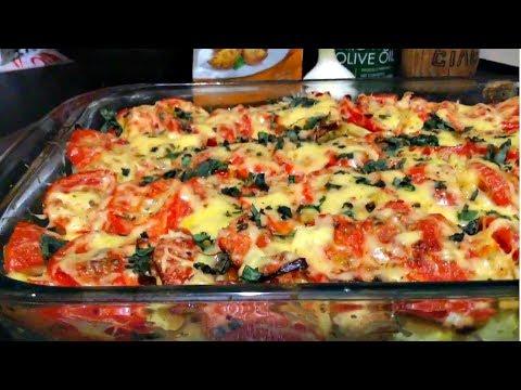 Настоящая ОВОЩНАЯ ЗАПЕКАНКА из кабачков с цветной капустой, перцем и помидорами