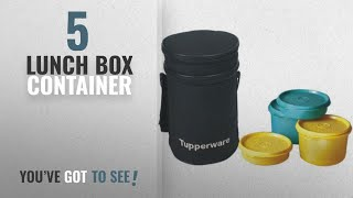Top 10 Lunch Box Container [2018]: Tupperware Executive Plastic Lunch Set with Bag, 4-Pieces