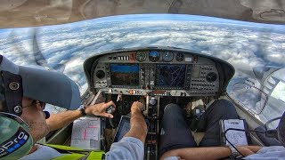 DA42 Takeoff, Airways Join & Climb FL080 | GoPro 7 Black | Cockpit View & ATC