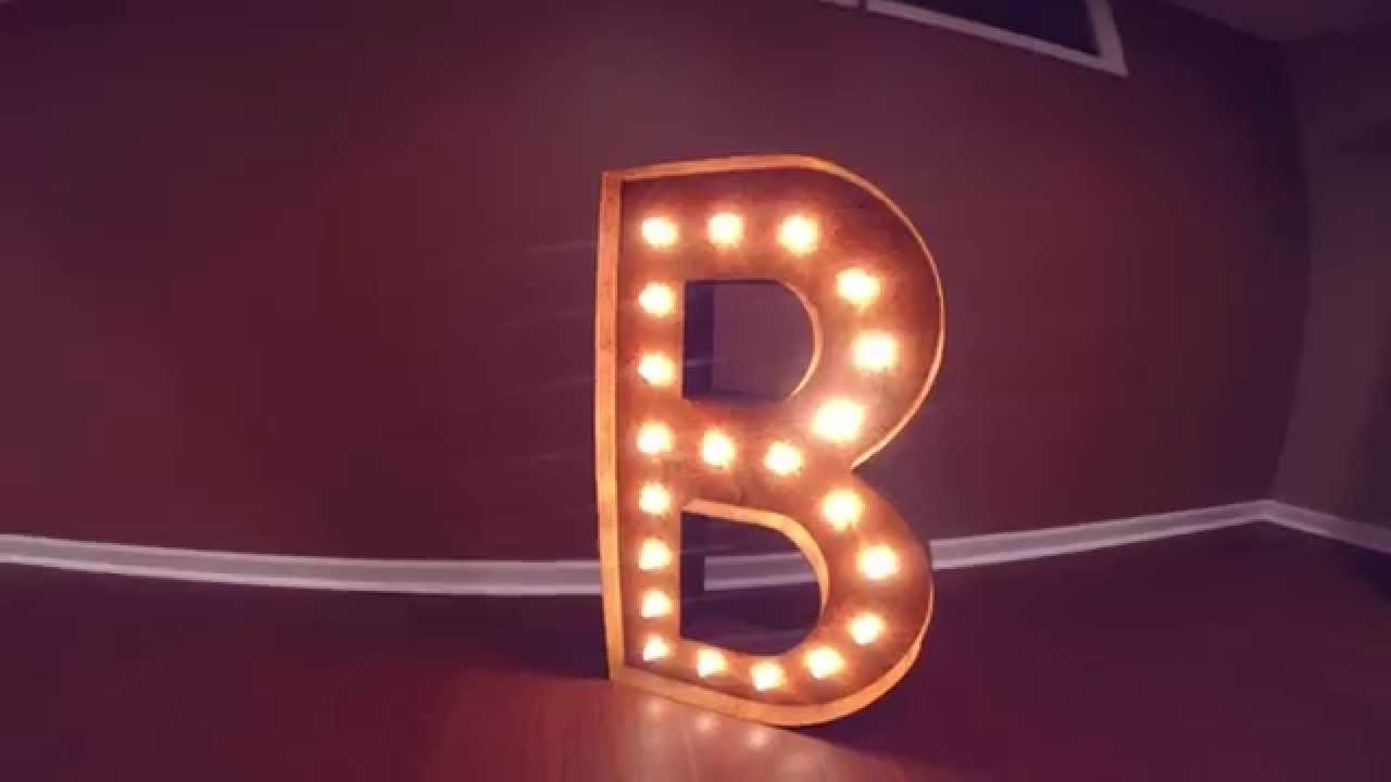 vintage marquee lights my letter b custom made lighted signs for sale youtube