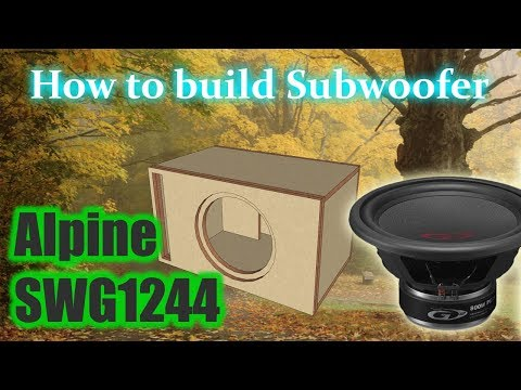How to build Subwoofer Alpine SWG-1244