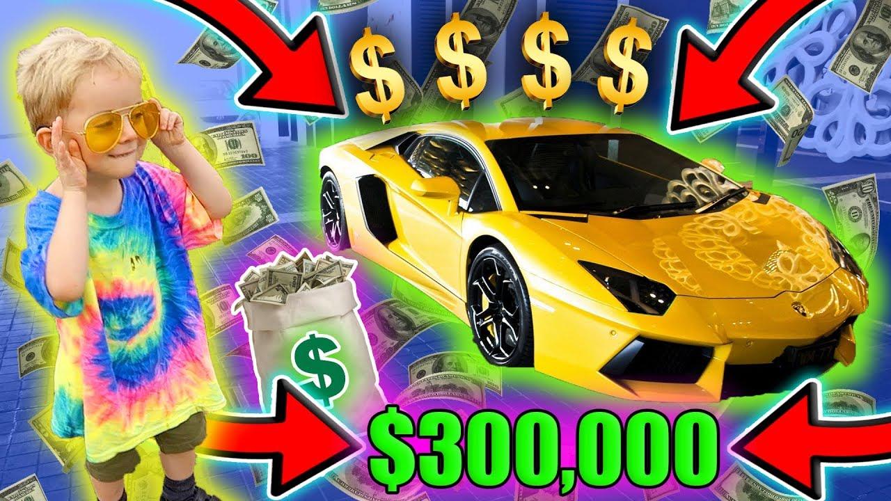 3 Year Old Mini Jake Paul Buys A Lamborghini Youtube