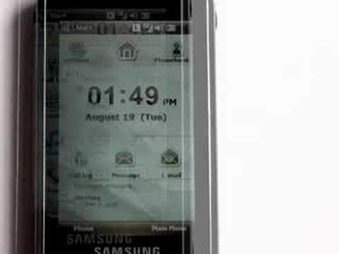 Samsung Omnia I900 Video Review - Part One