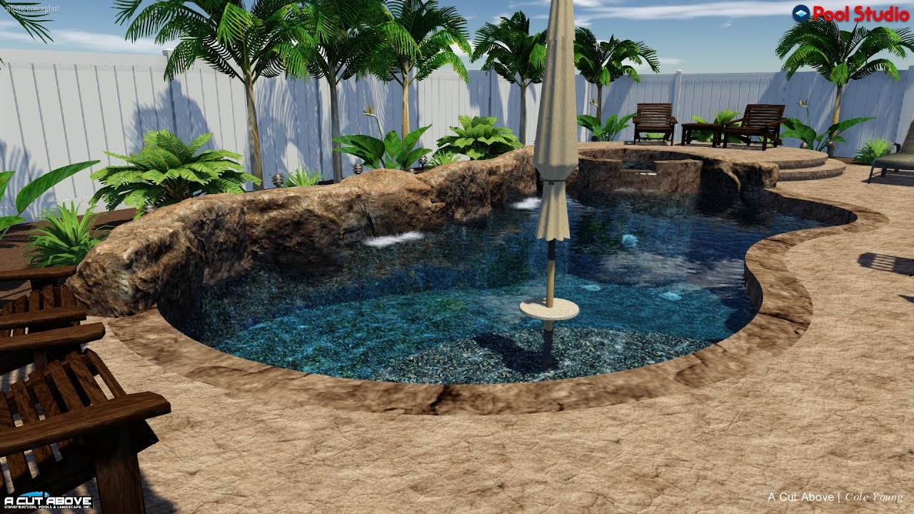 A cut above pools 3d pool studio design sergent faux for Pool design studio