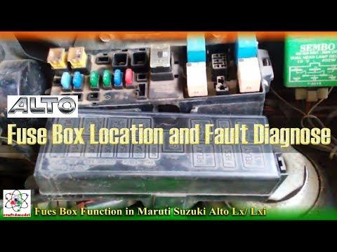 Maruti Suzuki Alto Lx Fuse Box Location and Fault Diagnose ... on