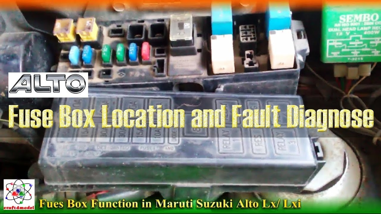 maruti suzuki alto lx fuse box location and fault diagnose