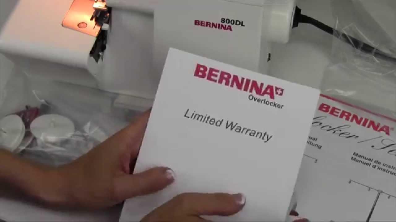 Bernina 800dl overlocker instruction manual.