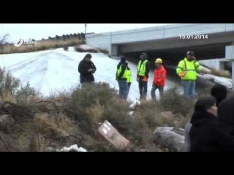 Texas, Prison Bus Skids Off Icy Over Pass Killing 10, Injuring 5