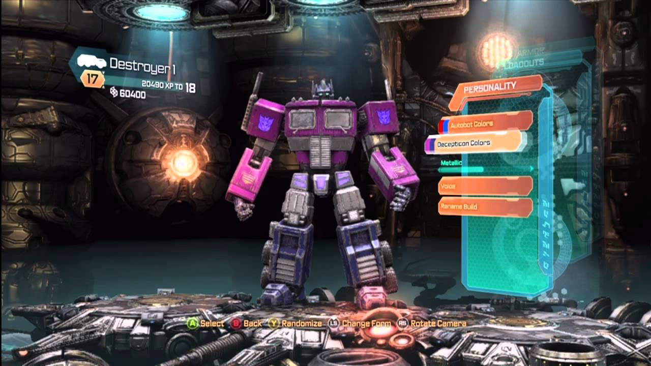 Transformers Fall Of Cybertron New Character Colors For Multiplayer YouTube