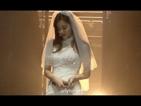 [Fancam] T-ara Eunjung wedding dress - Goodbye Shanghai concert
