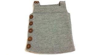 Yandan Düğmeli Kolay Bebek Yeleği Nasıl Yapılır? (Baştan Sona Anlatım) - örgü modelleri - knitting
