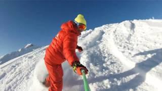 esf praz de lys snowboard freeride
