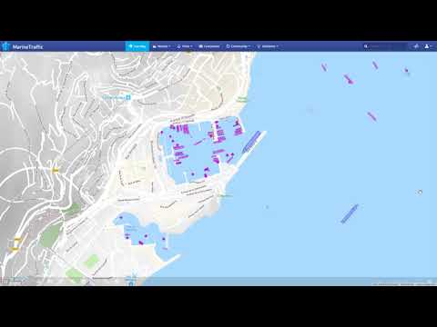 Traffic in the port of Monaco a week prior to the Monaco yacht show 2018